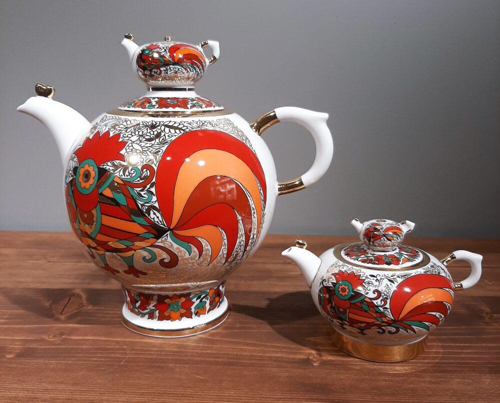 красный петух чайники